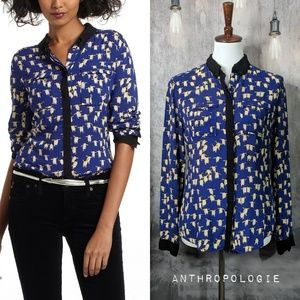 Anthropologie MAEVE Bagatelle Button-down in Blue